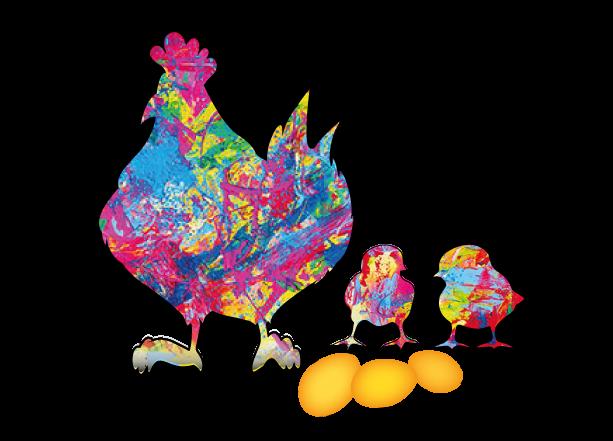 Bioeier von glücklichen Hühner auf der RAX-Alpe